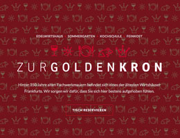 Zur Golden Kron | Website